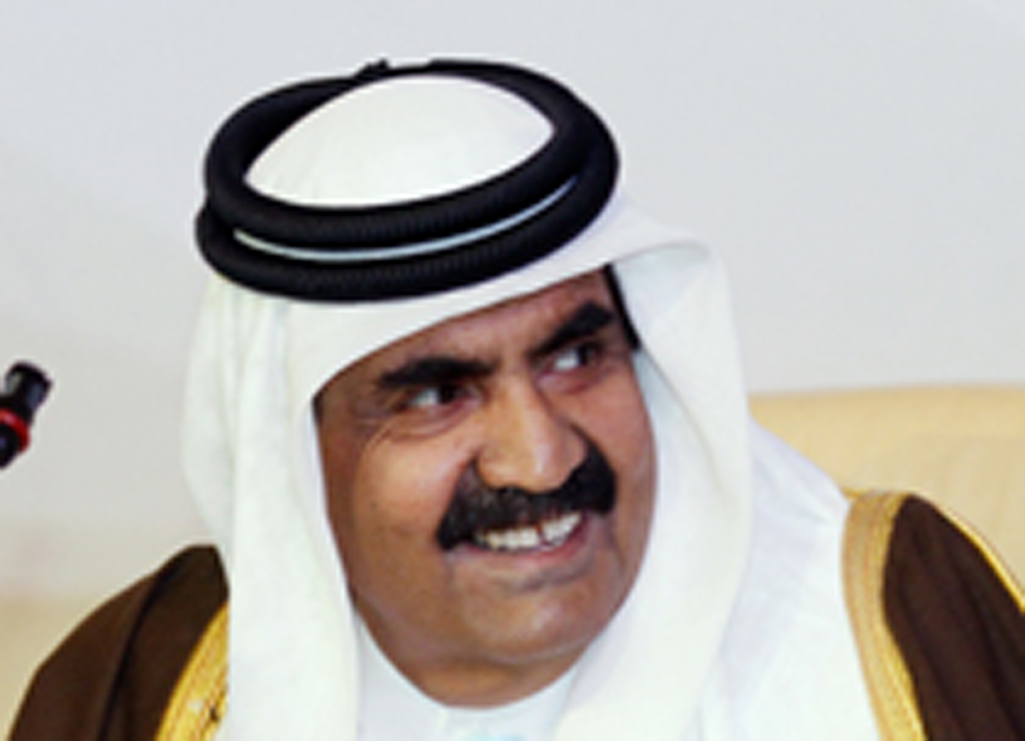 Qatar's Emir Sheikh Hamad bin Khalifa al-Thani attends the opening of the International Conference on Jerusalem in Doha