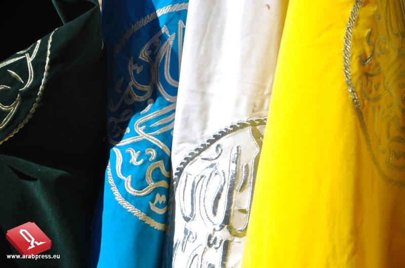 Alcuni stendardi delle confraternite (zaouia)
