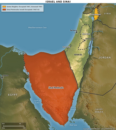 sampleIsrael and Sinai map