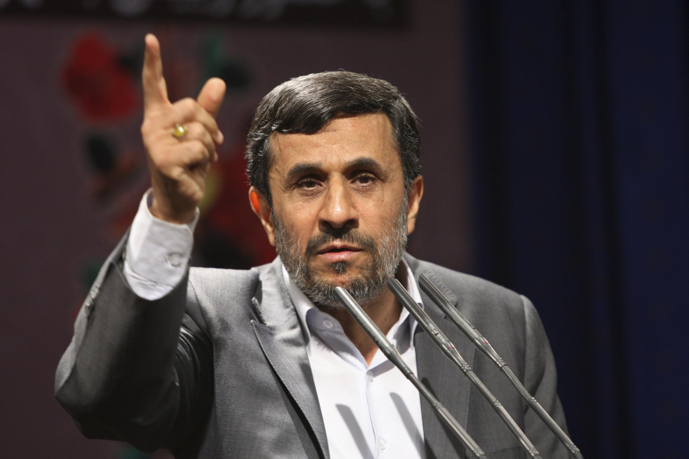 presidente iraniano Ahmadinejad