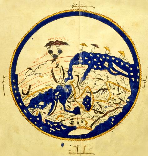 al-idrisi, mappa