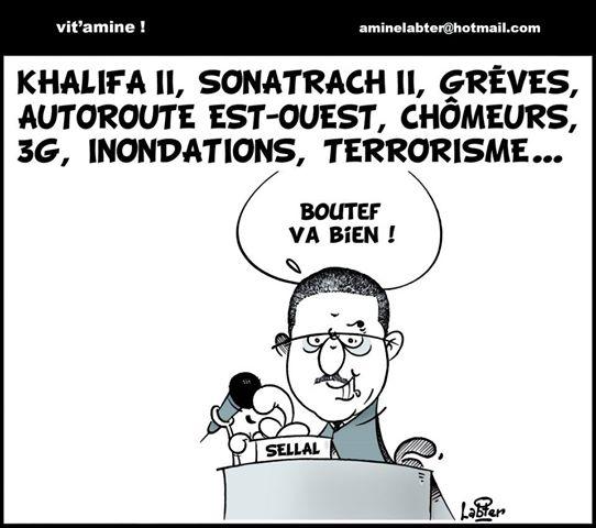 Khalifa II, Sonatrach II,scioperi,disoccupati,, 3G, inondazioni, terrorismo........ma Bouteflika sta bene