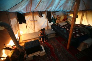 rifugiati siriani in Libano (villaggio di Ketemaya, sudest di Beirut)