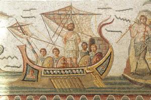 Ulisse, Museo del Bardo (Tunisia), mosaico romano - foto di Noboru Ogata, 2009