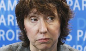 EU Commissioner-designate Ashton of Britain addresses the European Parliament Foreign Affairs Committee in Brussels