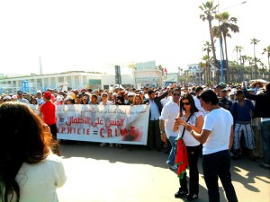 Moroccan-demonstrating-against-Pedophilia.-Photo-by-Mouhssine-Baron-Arfa-for-Morocco-World-News.