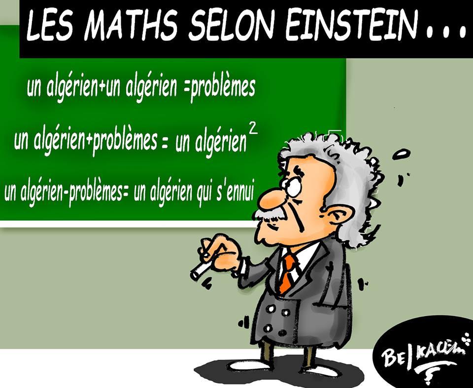 un algerino+un algerino=problemi un algerino+problemi=un algerino al quadrato un algerino-problemi=un algerino annoiato