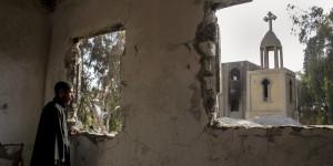 APTOPIX Mideast Egypt Town in Peril