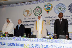 AUC Chief of Staff H.E Natama attending the opening ceremony of the Arab Africa Economic Forum in Kuwait 11-11-2013