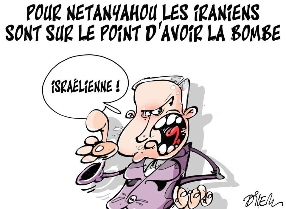Per Netanyhau gli iraniani stanno per avere la bomba ...........israeliana
