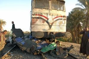 Mideast Egypt Train