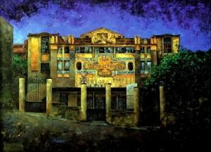 Gran Teatro Cervantes (Tangeri) - pittura ad olio di Consuelo Hernández
