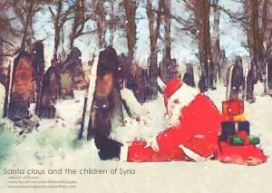 Santa Claus and the children of Syria - Wissam al-Jaza'iri