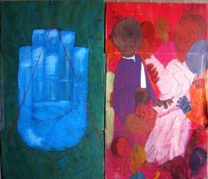 opera dell'artista egiziano Ali Abdel Mohsen