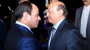 El Sisi Hadi egitto yemen