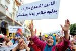 Donne manifestano a Rabat