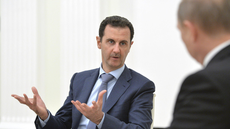 Risultati immagini per Bashar Assad in visita in Russia