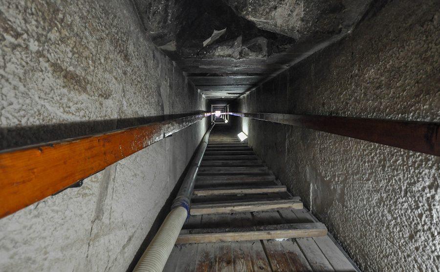 interno piramide Rossa Egitto