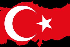 Turchia mappa-bandiera