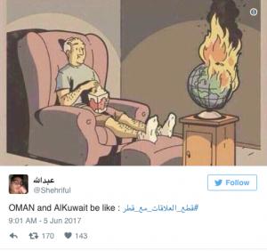 Il Qatar tagliato fuori: come hanno reagito gli utenti di Twitter nei Paesi del Golfo?
