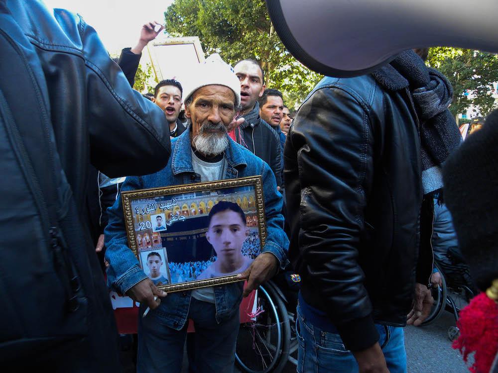 Famiglie dei martiri della Rivoluzione_Bourgouiba_Tunis_14012018 ©Alice Passamonti
